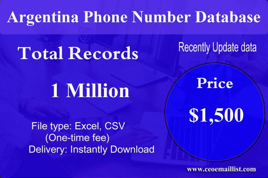 Argentina Phone Number Database