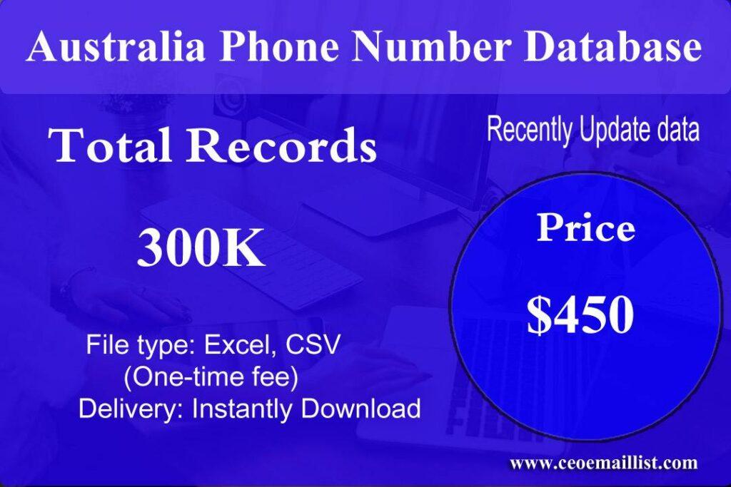 Australia Phone Number Database