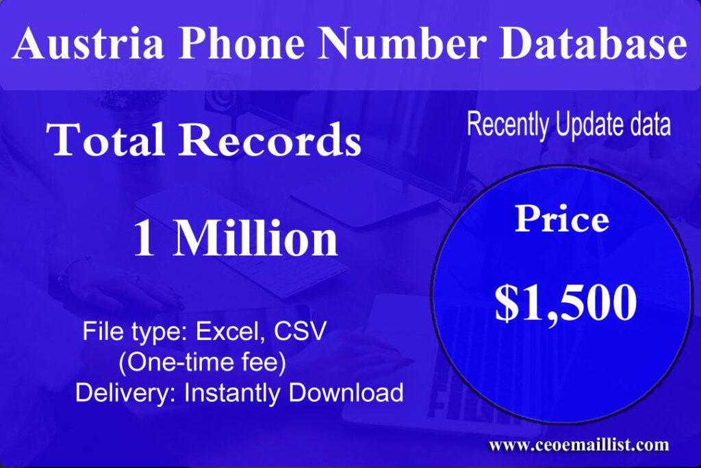 Austria Phone Number Database