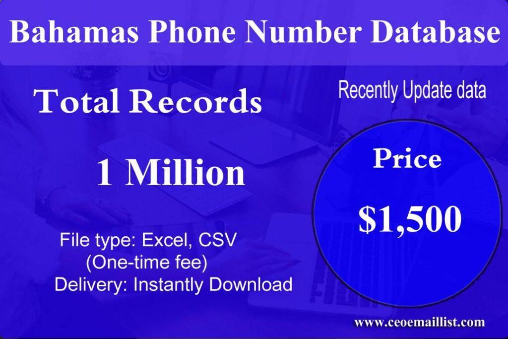 Bahamas Phone Number Database