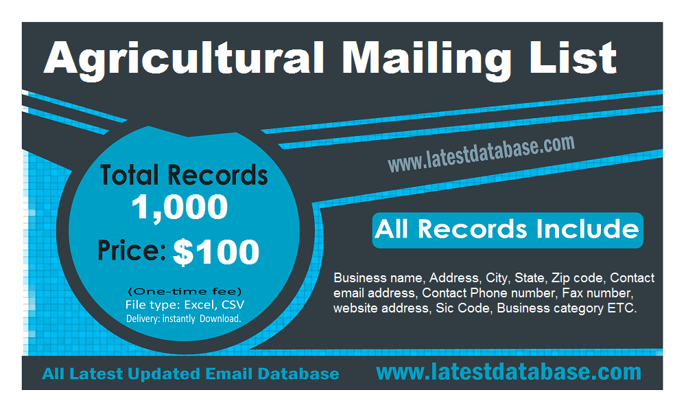 Agricultural Mailing List