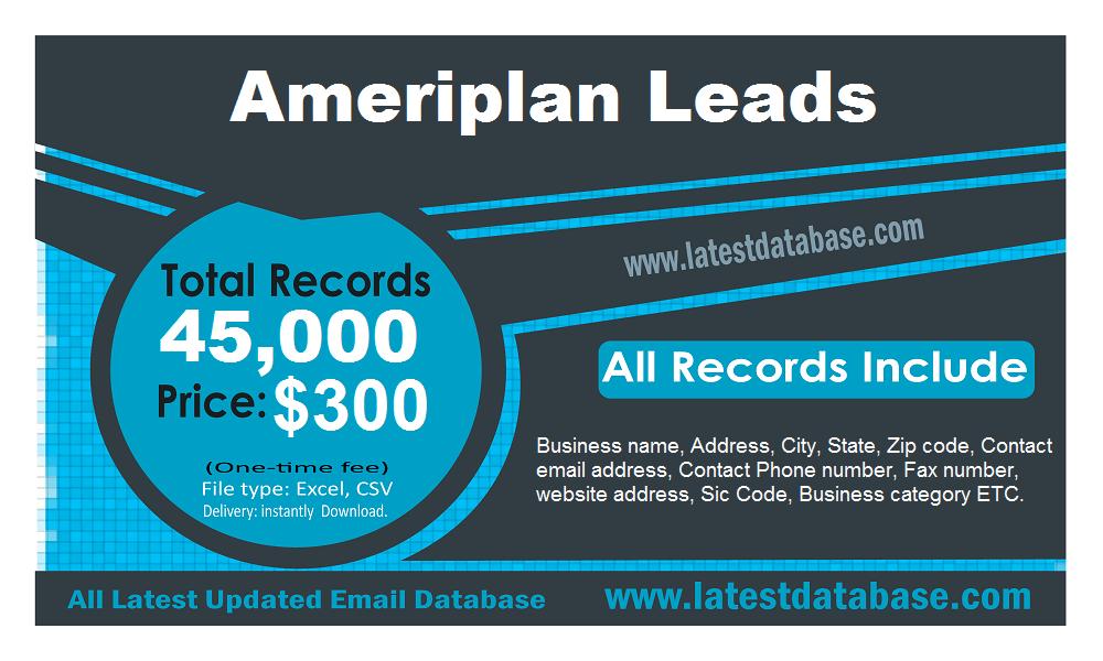 Ameriplan Email Leads