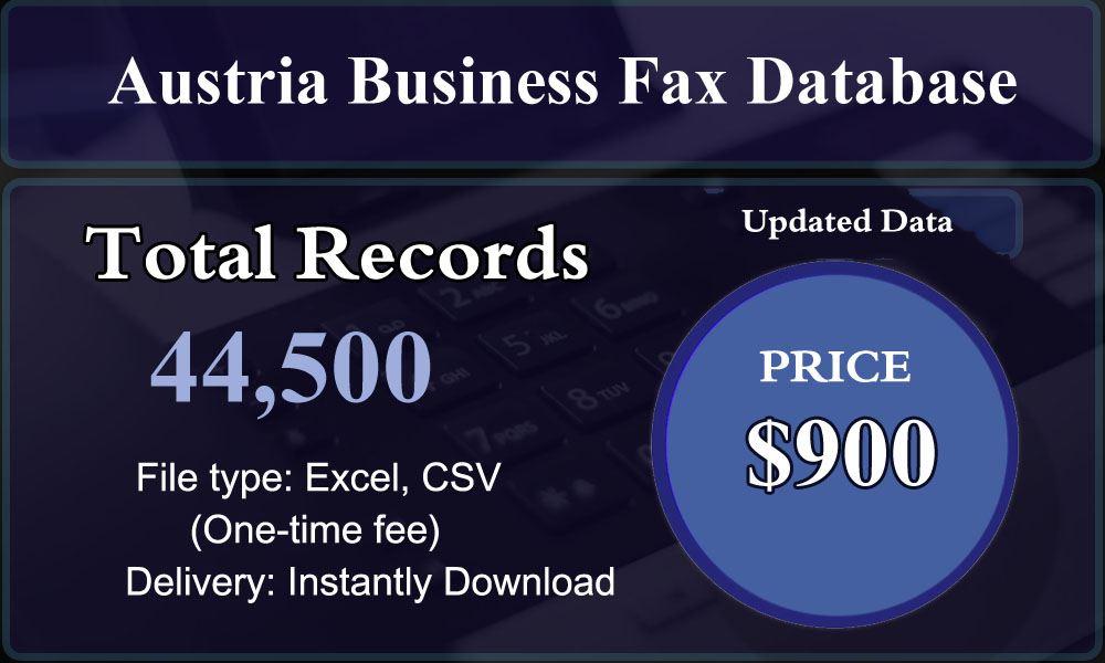 Austria Business Fax Database