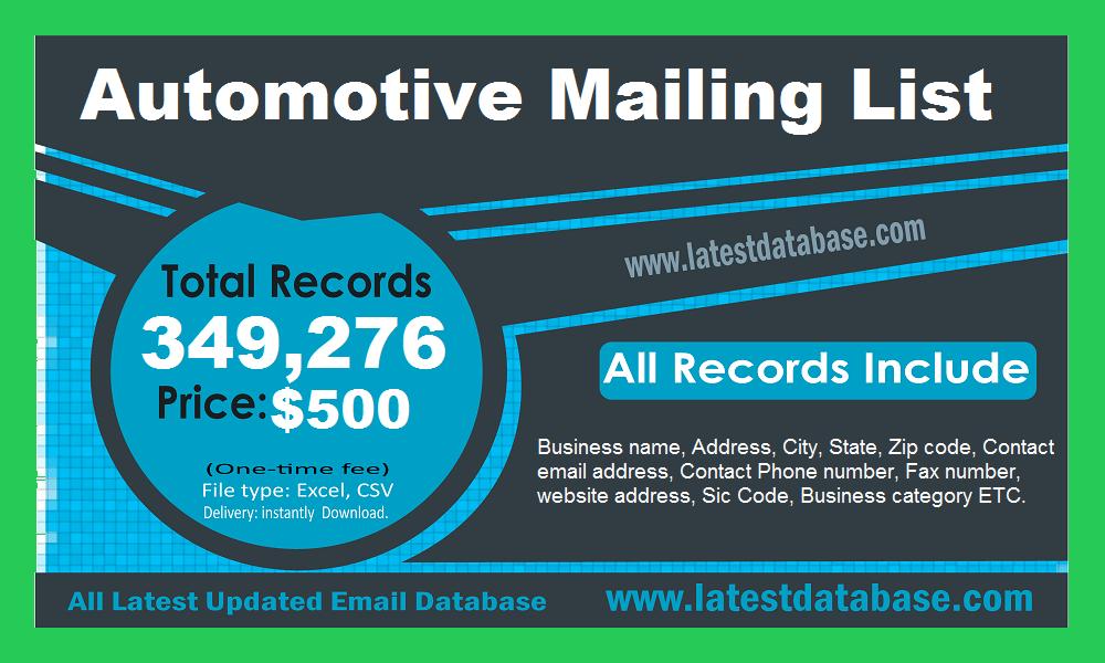Automotive Mailing List
