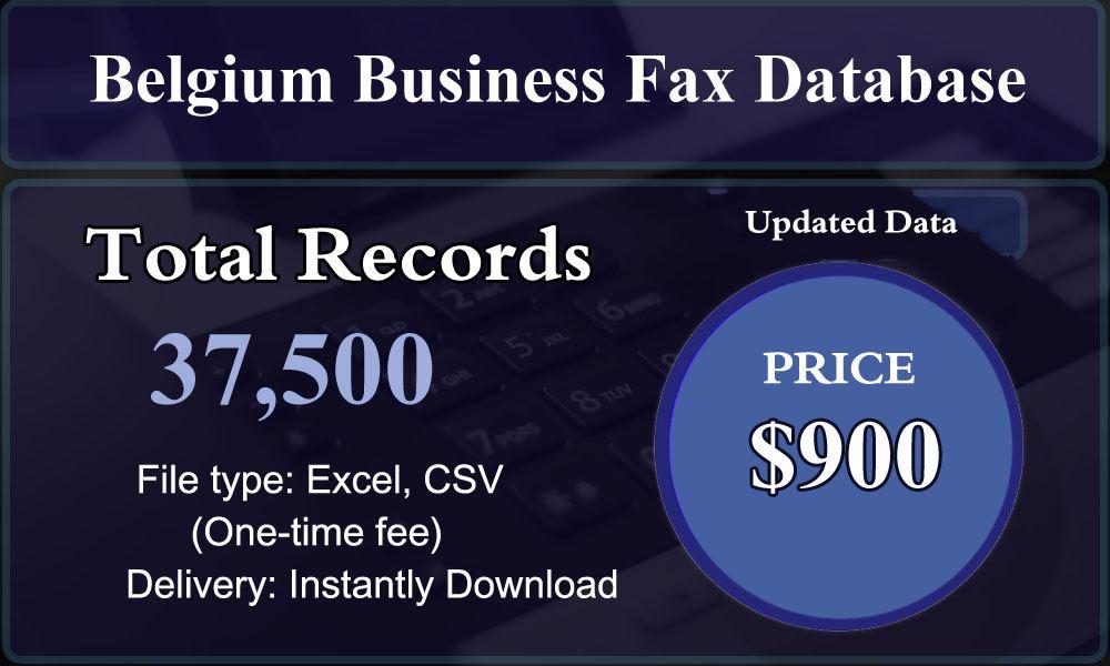Belgium Business Fax Database