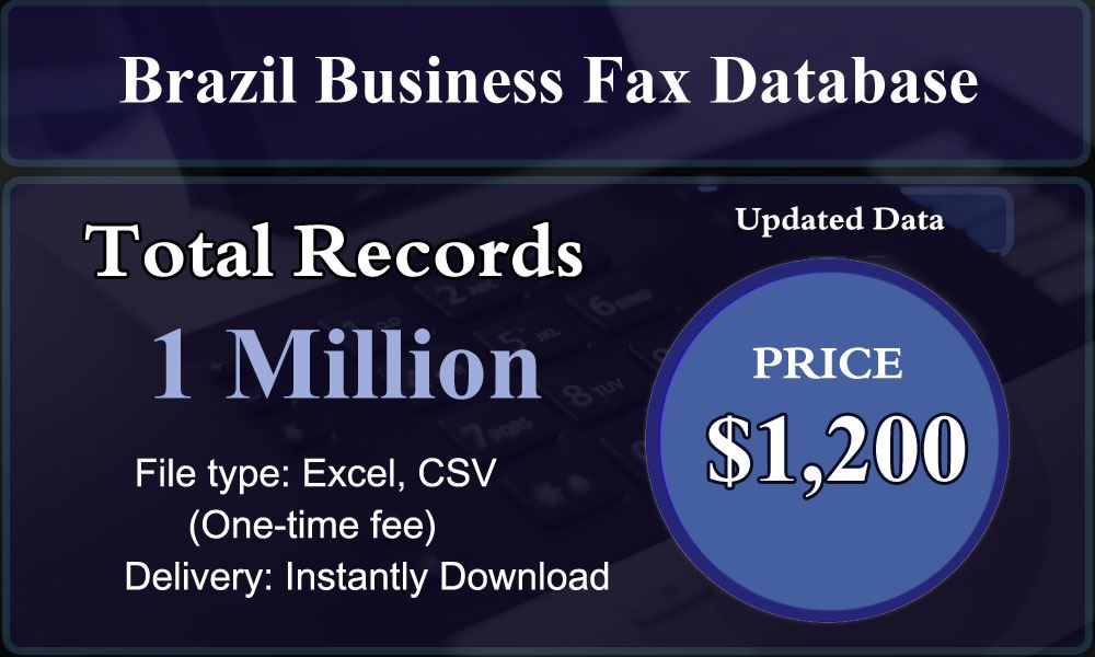 Brazil Business Fax Database