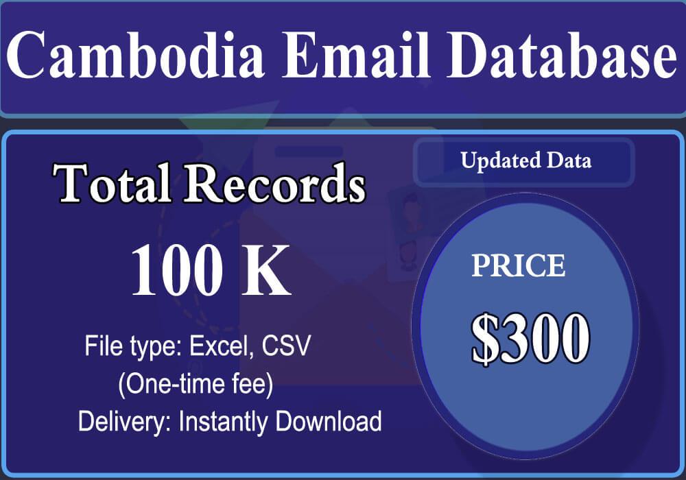 Cambodia Email Database