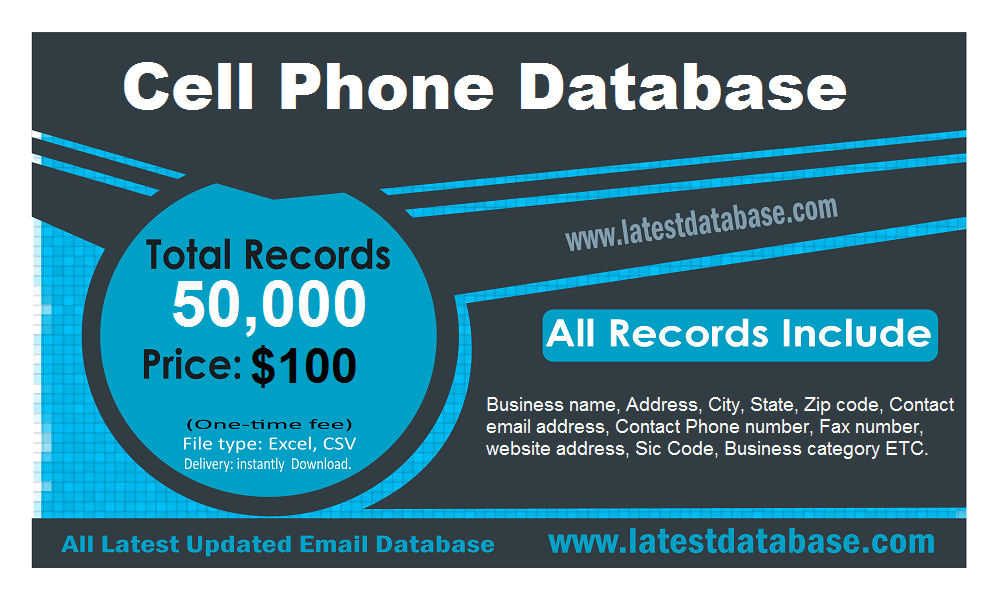 Cell Phone Email Database