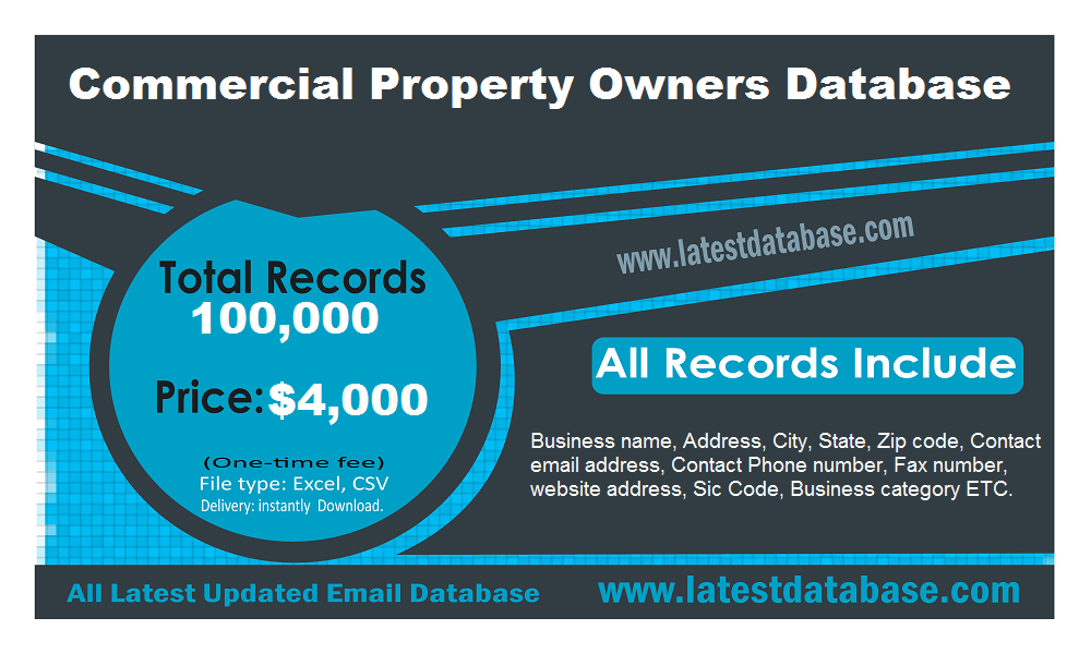 Commercial Property Owners Database