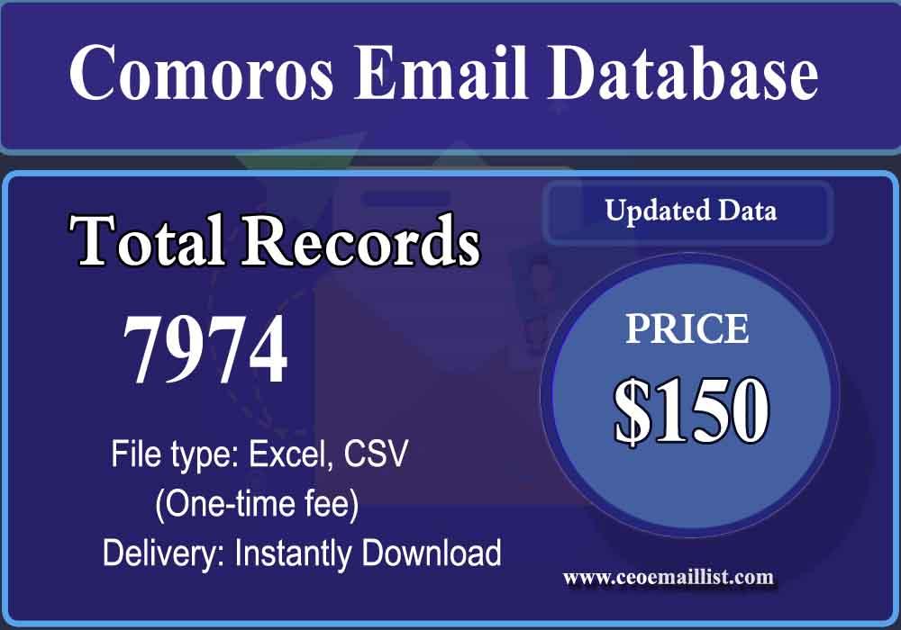 Comoros Email Database