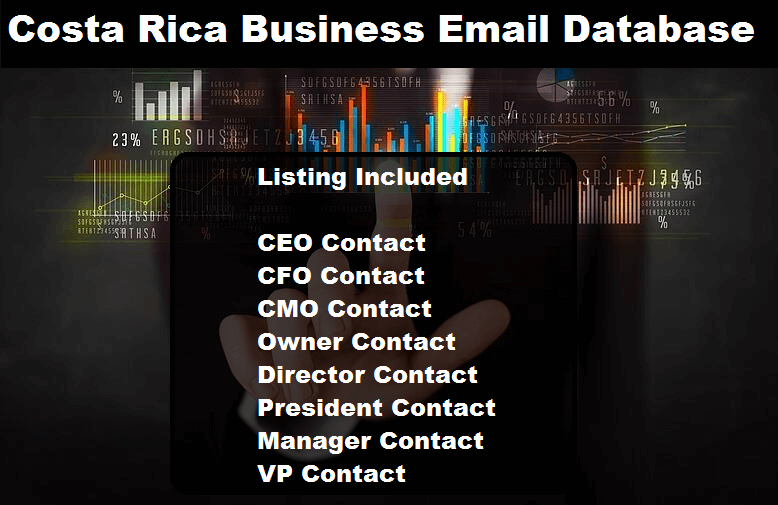 Costa Rica Business Email Database Small Package