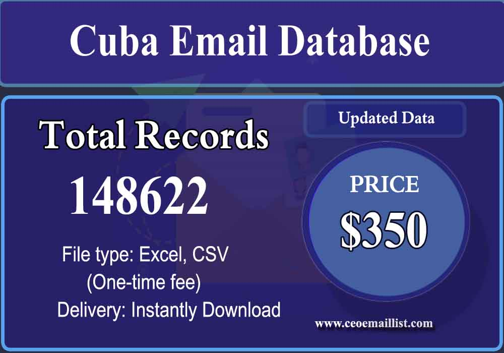 Cuba Email Database