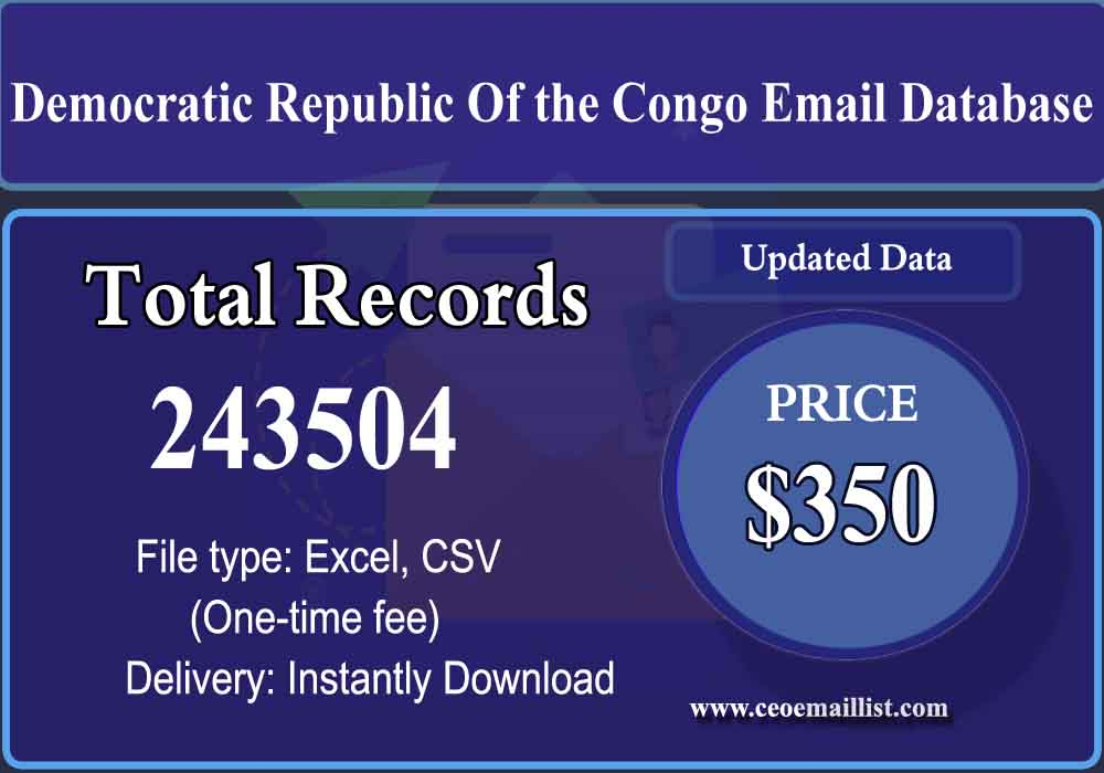 Democratic Republic Of the Congo Email Database