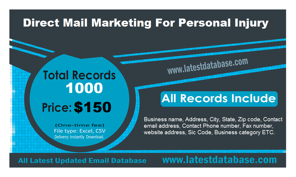 Direct Mail Marketing For Personal Injury