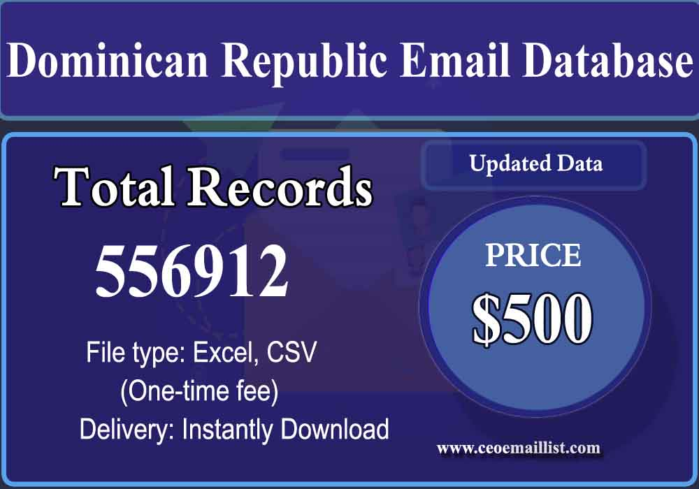 Dominican Republic Email Database