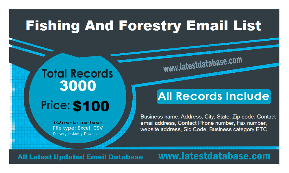 Fishing And forestry Email List