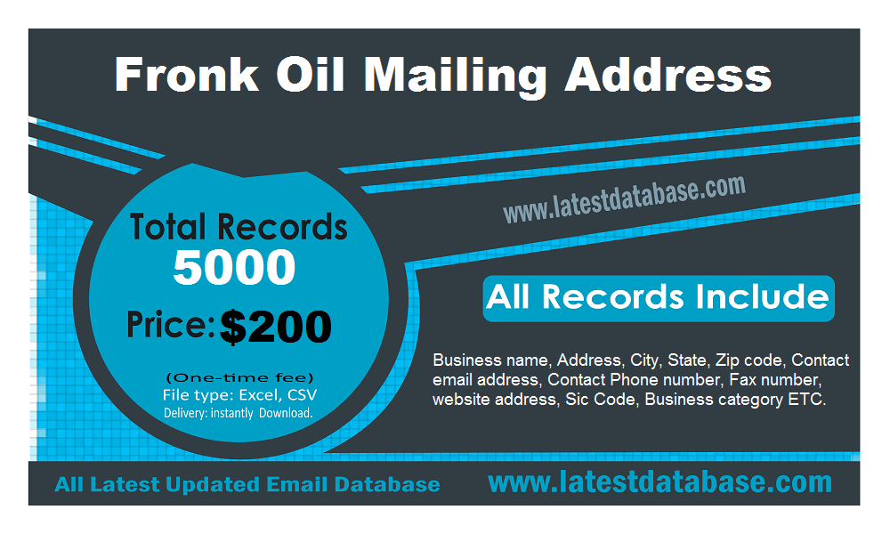 Fronk Oil Mailing Address