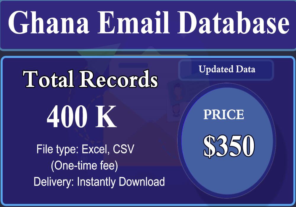 Ghana Email Database