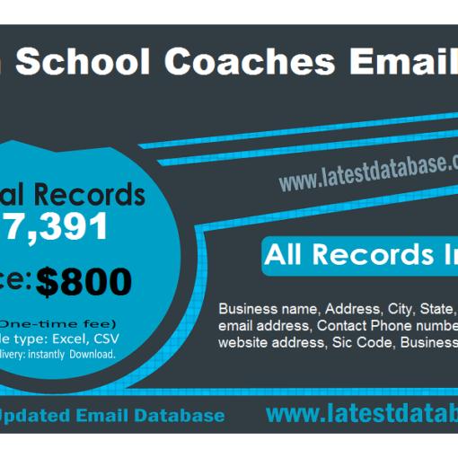 High School Coaches Email List