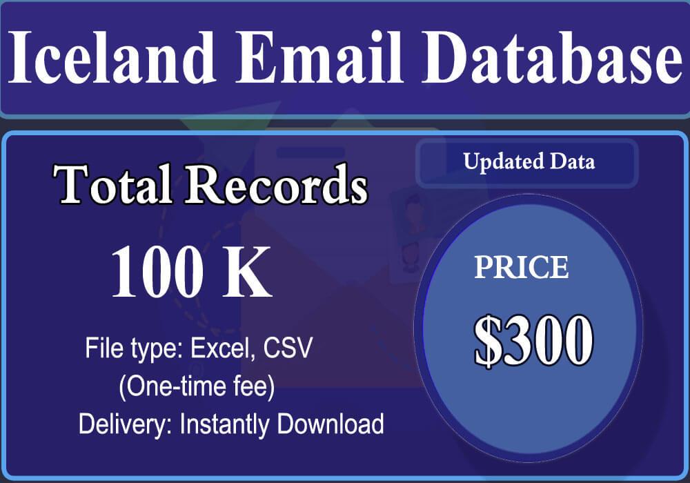 Iceland Email Database
