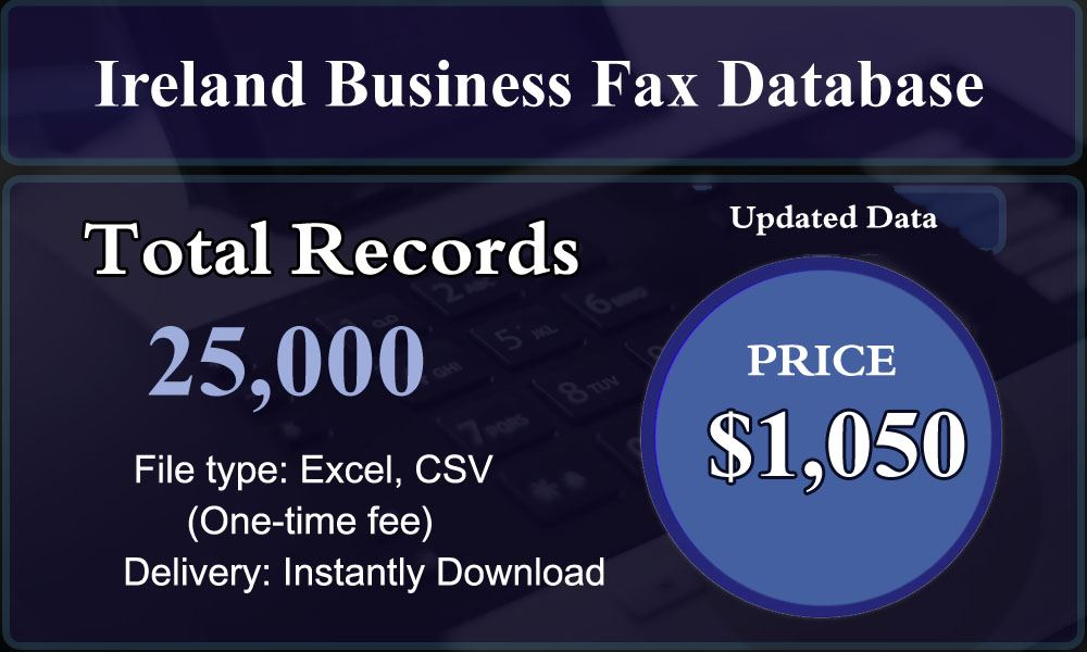 Ireland Business Fax Database