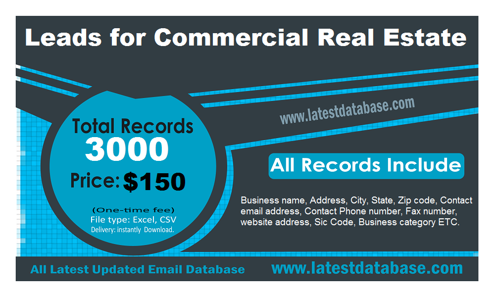 Leads for Commercial Real Estate