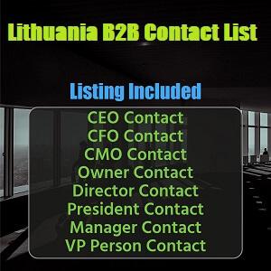 Lithuania B2B Contact List