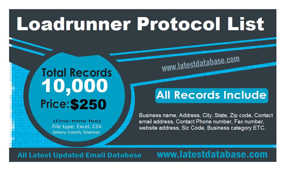 Loadrunner Protocol List