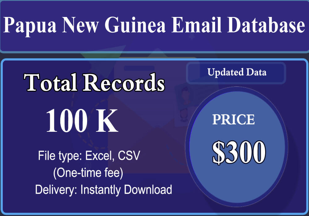 Papua New Guinea Email Database