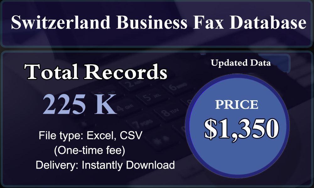 Switzerland Business Fax Database
