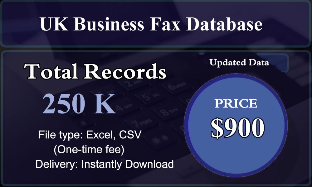 UK Business Fax Database